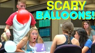 SCARING PEOPLE WITH BALLOONS!