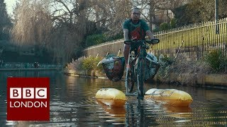 The man who rides a floating bike – BBC London News