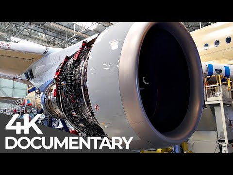 Giant Aircraft Manufacturing an Airbus A350 Mega Manufacturing Free Documentary