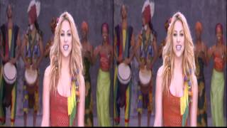 Shakira - Waka Waka Live 3D Music Video Stereoscopic 3DTV