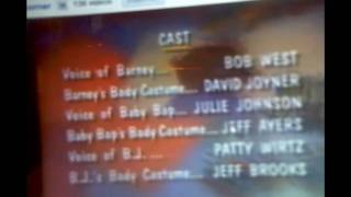 Closing to Barney's Hats Off To BJ! 1997 VHS