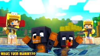 Minecraft WHOS YOUR MOMMY?? - BABY DONUT & BABY MAX DROWN!!
