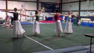 Long White Skirt Dance for England ~ Chattooga