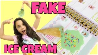 EASY CRAFTS:How to make FAKE ICE CREAM DIY