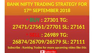 BANK NIFTY TRADE FOR 17th SEPTEMBER 2018