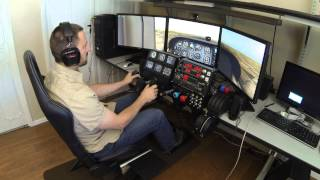 X-Plane Simulator with TrackIR and Saitek Cessna Pro Flight Controls
