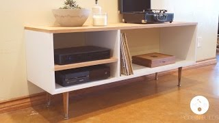 DIY Mid Century Modern Console Table | Modern Builds | EP. 6