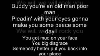 Queen-We Will Rock You Lyrics