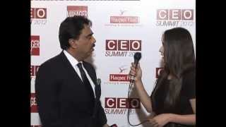 (Blue Carpet) Salim Ghauri Chairman & CEO NetSol at CEO SUMMIT 2012 by Manager Today