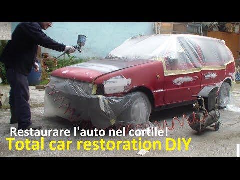 Restaurare un auto da soli 2° Parte LA VERNICIATURA DIY Classic car restoration Part 2° PAINTING