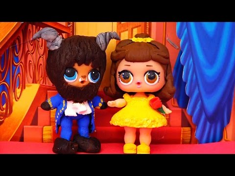 Toys for Kids L.O.L. Surprise Dolls Turn Into Beauty and the Beast DIY & We Complete Series 1