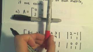 Finding the Inverse of a 3 x 3 Matrix using Determinants and Cofactors - Example 1