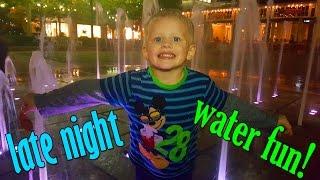 Late Night Water Fun!!