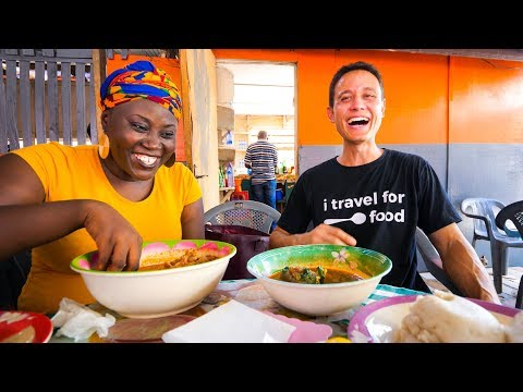 Street Food in Ghana GIANT CHOP BAR LUNCH and West African Food Tour in Accra