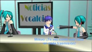 MMD Noticias Vocaloid - Trasmisión 4 (Parodia Drama)