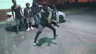 DangerFlex doing bhenga dance somewhere in JHB with Dan from JHB (Sbujwa)