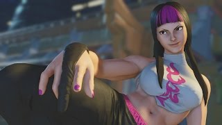 Street Fighter V - Juri Intro, Critical Art, Victory Pose and All Story Mode Cutscenes