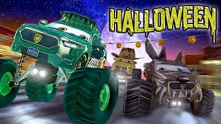 Scary Monster Trucks Trick or Treat - appMink Halloween Animation for Kids