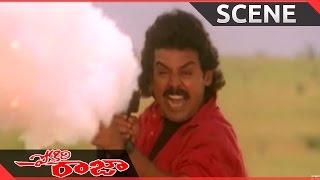 Pokiri Raja Movie || Climax Action Scene   || Venkatesh, Roja