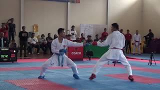 SELEKSI ASIAN GAME KARATE-Rifki a (AKA) vs (AO) Iwan s KUMITE -60 SENIOR PUTRA
