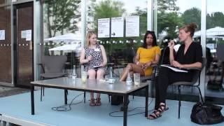 """""""Fragen beim Lesen""""   """"Questions while Reading"""": Shumona Sinha und Lena Müller (03/06)"""