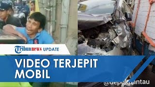 Viral Video Pria Mengaduh Saat Terjepit Mobil Ertiga, Ternyata Hendak Tolong Korban Kecelakaan