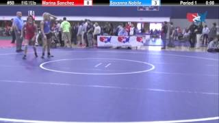 WM 51 KG Marina Sanchez (King) vs Savanna Nobile (Lindenwood)