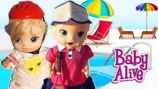 Baby Alive Lily ve Blonde Kardeşler Oyuncak Bebek Paten Kayıyor | Bebek Videoları | Oyuncak Butiğim