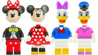 Learn Color Videos for Kids Paw Patrol Skye & Chase Wrong Heads Minnie Mouse Disney Legos