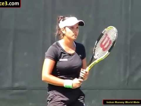 Sania Mirza Tennis star | Playing in Tennis court