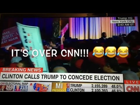 The moment CNN realizes the election is OFFICIALLY over. Trump wins