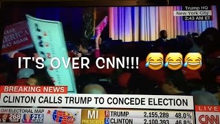 The moment CNN realizes the election is OFFICIALLY over.  Trump wins!!!!
