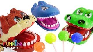 Learning Colors Videos for Kids: Paw Patrol, Giant Crocodile Dog & Shark Eats Chupa Chups LolliPops
