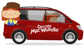 New car for doctor McWheelie. Car cartoons.