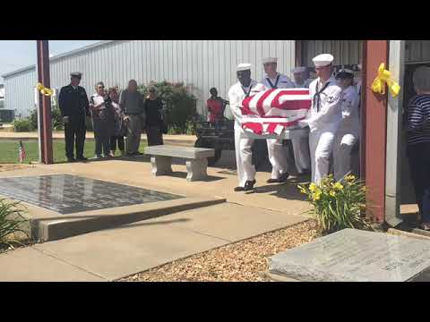 USA Oklahoma Seaman First Class Henry Glenn Tipton funeral procession June 8, 2018