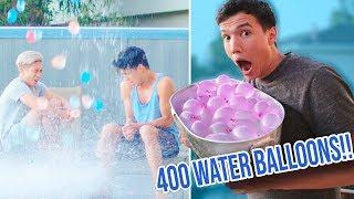 400 WATER BALLOON PRANK ON MY ROOMMATES!!