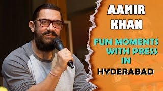 Aamir Khan Funny Interaction With Telugu Press at Dangal Movie Promotions in Hyderabad