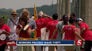 Nashville Workers Protest Wage Theft; Company Responds