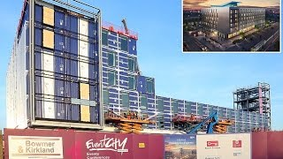 Manchester hotel is being built entirely from shipping containers which arrived fully furnished comp