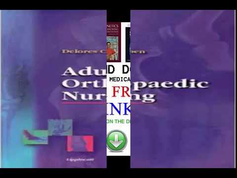 Download Adult Orthopaedic Nursing  PDF