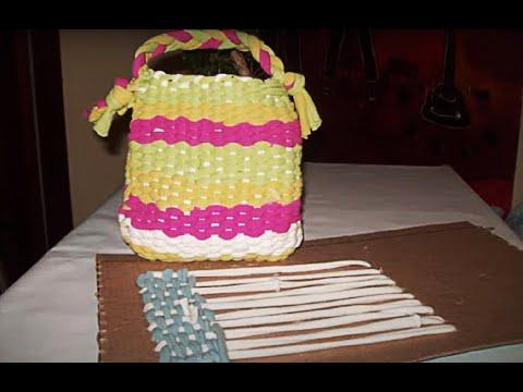 Artesanato Tear de papelão Craft Loom cardboard Artesanía cartón Loom