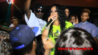 Love and Hip Hop star Jhonni Blaze clapping ass in a thong.