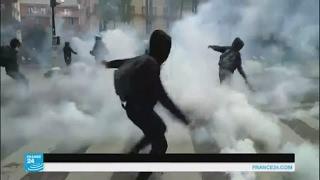 باريس: مواجهات مع الشرطة خلال احتجاجات تطالب بمقاطعة الانتخابات