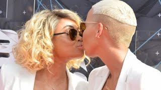 Amber Rose Ditches Machine Gun Kelly to Kiss Blac Chyna on BET Red Carpet