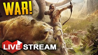 Far Cry Primal Gameplay: Starting a War of Man VS Beast  | Live Stream (Part 8)
