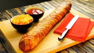 Twee keer zoveel is twee keer zo lekker: Stokbrood Salami in Baconjasje