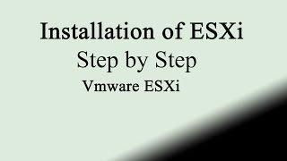 Install exsi on vmware workstation