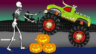 Monster Truck Halloween | Vehicles For Kids | Bajki Dla Dzieci - Monster Truck