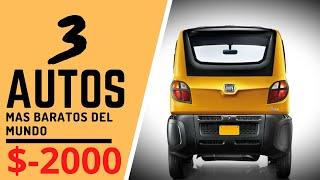 AUTOS MAS BARATOS DEL MUNDO - TOP 3 coches que puedes comprar nuevos hasta por $2,000 - VIDEO