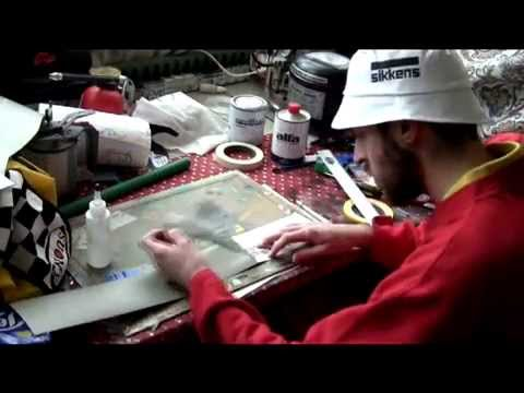 Alz Aerografie airbrush Joker Helmet part 1